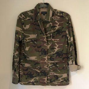 Topshop Camo Military Jacket